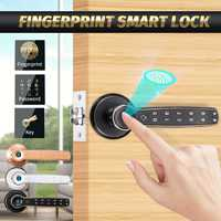 Smart Electronic Door Fingerprint Lock Touch Digital Password Key Electric Lock Home Office Security Access Control 3 Colors