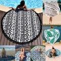 Круглый мандала индийский хиппи бохо гобелен пляжный  пикник пледы полотенце коврик одеяло