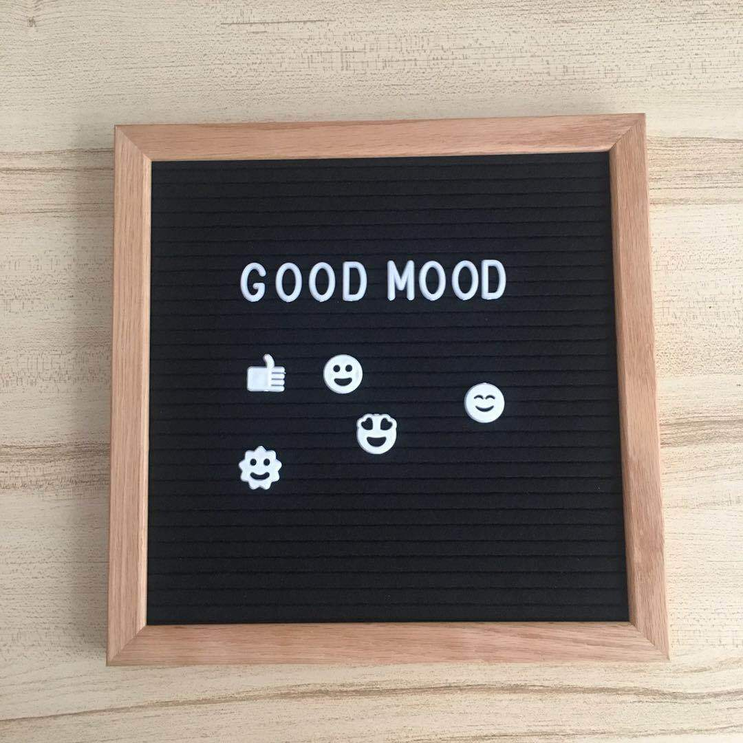 10*10 Inch Felt Blackboard Oak Wood Letter Board  Home Message Board Made By Hand