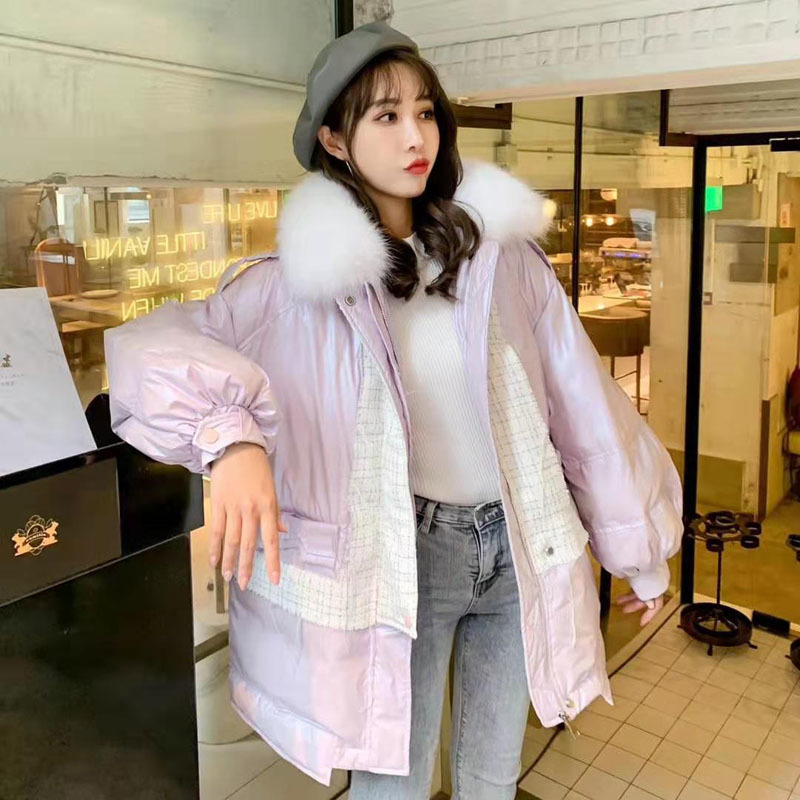Female Coat Winter Women 2020 Thick Warm Down Jacket With Hat Natural Fox Collar Solid Color Parka Real Fur