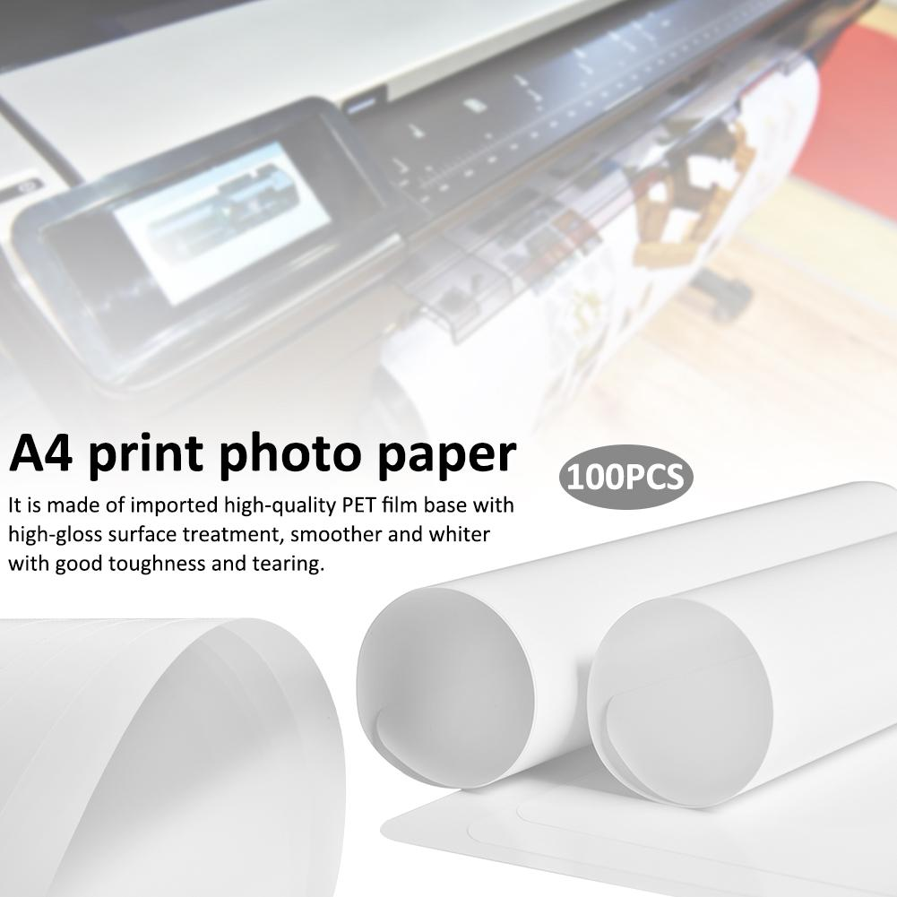A4 Single-sided High-gloss Print Photo Paper RC Waterproof Tear-resistant Inkjet Plastic PET Medical Film Photographic Paper