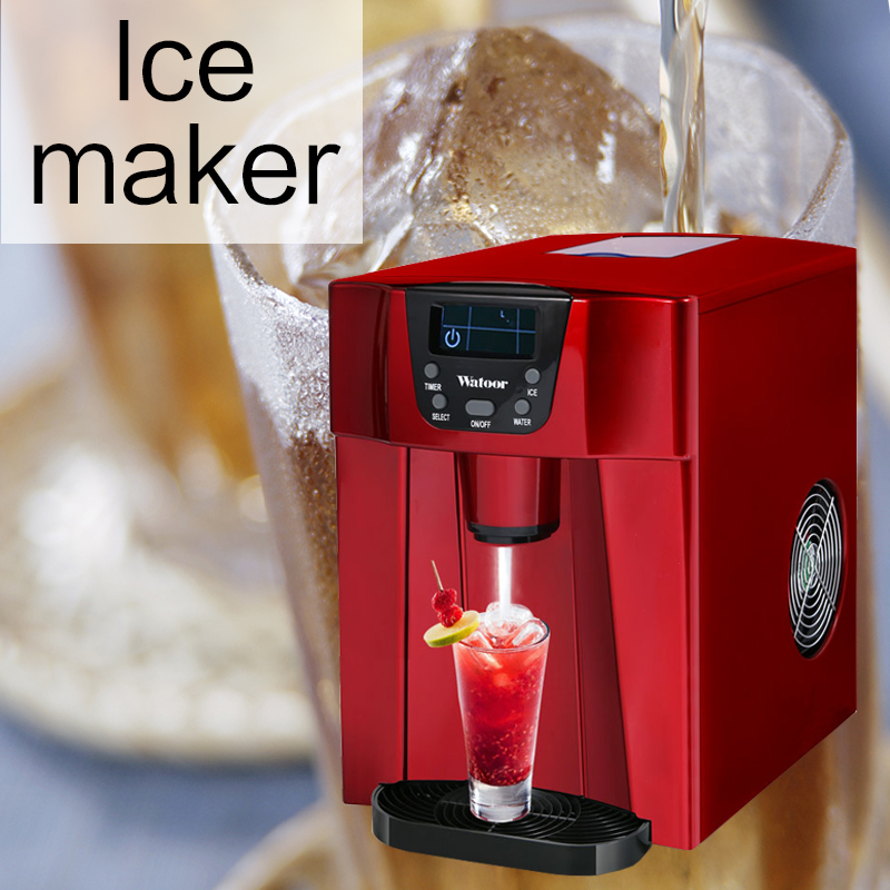 105W ביתי קטן מכונת קרח מסחרי קר אוויר אוטומטי ברז חלב תה חנות בר עגול קרח קר לשתות קרח מכונה