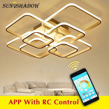 Modern LED Ceiling Light Black&White Chandeliers Ceiling Lamp LED Light Fixtures Living room Bedroom Dining room Kitchen Lustres black white square round led ceiling lamp living room dining room bedroom hall kitchen decoration modern dimming ceiling lamp