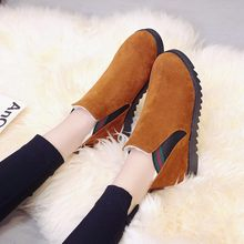 Hot sale Women natural real Plush fur snow boots fashion boots for women high quality genuine cow leather winter Ankle boots(China)