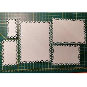 Прошитый гребешок прямоугольная рамка набор металлической прорезной трафарет для окраски для DIY бумажные карточки для скрапбукинга для ручной работы Новый 2019