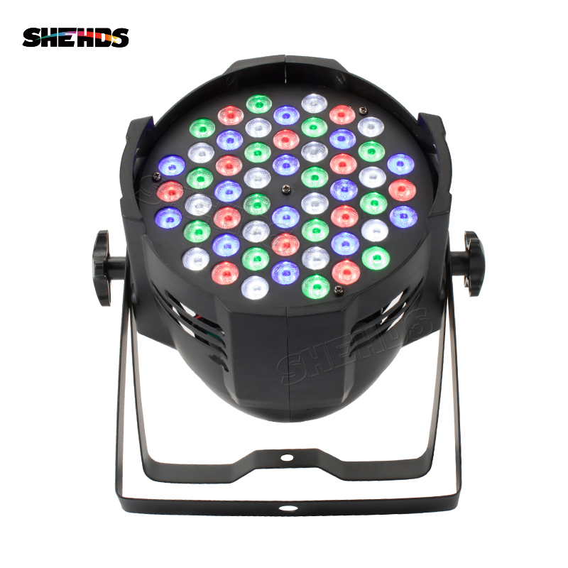 SHEHDS Aluminum Alloy Aviation Plug LED Par 54x9W RGB LED Lighting DMX512 Projector Floodlight Can Wash DJ Stage Light Design Stage Lighting Effect     - title=