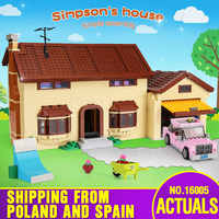 DHL Movie Toys 16005 Simpsons House 2575Pcs Building Block Brick Compatible With Lepining 71006 Toys for Children Birthday Gift