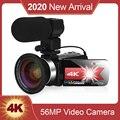 KOMERY Новое поступление видеокамера для Youtube 4K 56MP сенсорный экран ночное видение hd рекордер WiFi видео цифровая камера