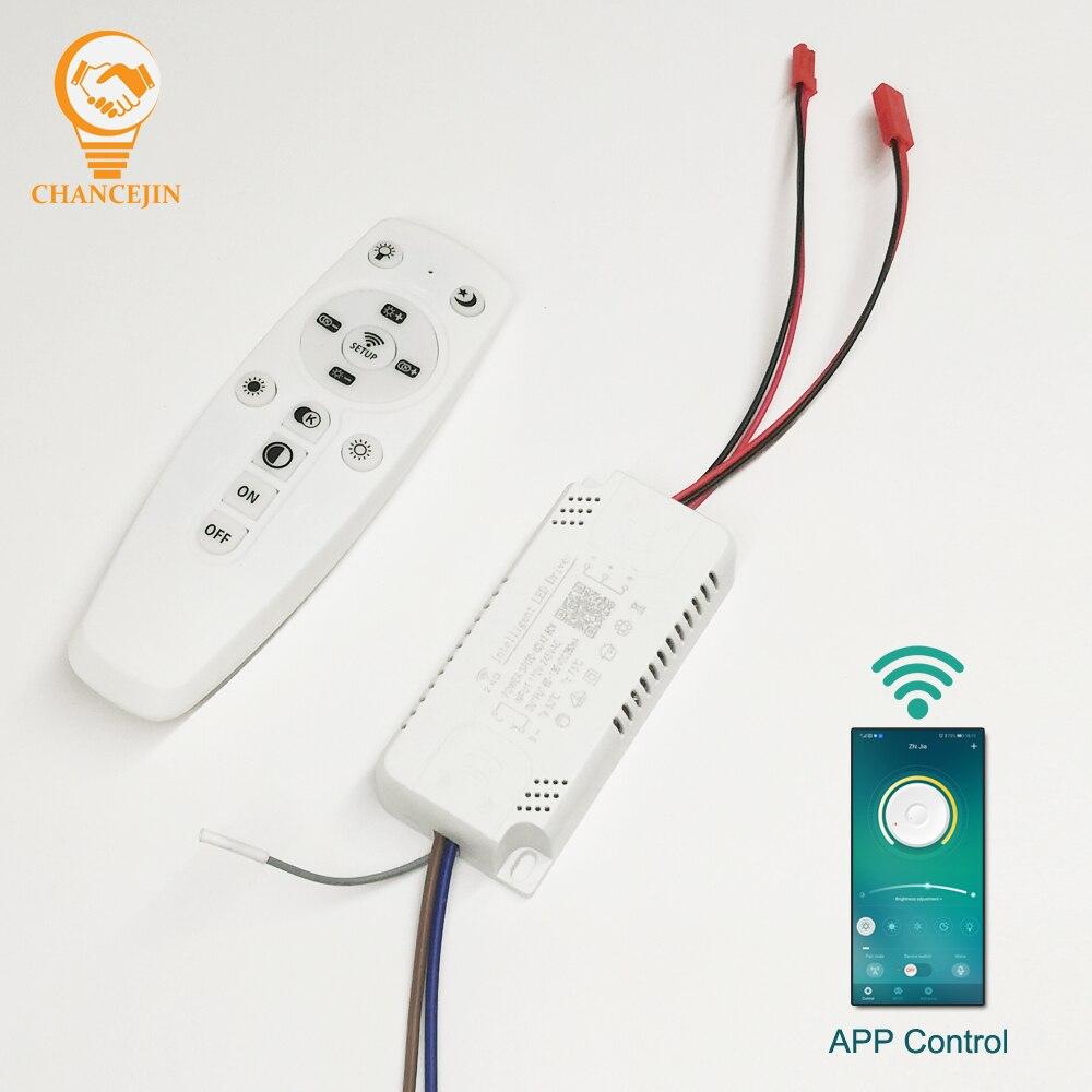Светодиодный драйвер с управлением через приложение, 2,4G, Интеллектуальный светодиодный трансформатор (20-40 Вт) X2 (40-60 Вт) X2 для люстры с регули...