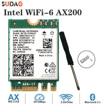 Беспроводной M.2 Wifi 6 Intel AX200 2974 Мбит/с Bluetooth 5,0 Wlan 802.11ax MU-MIMO NGFF Wi-Fi карта AX200NGW Windo