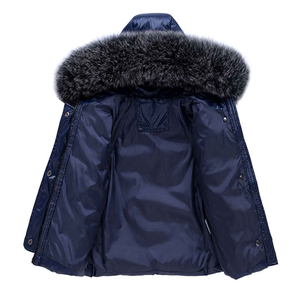 Image 3 -  30 Winter Snowsuit Children Clothing Set Baby Boy White Duck Down Waterproof Jacket for Girl Kids Coat + Bib Pants Enfant Parka