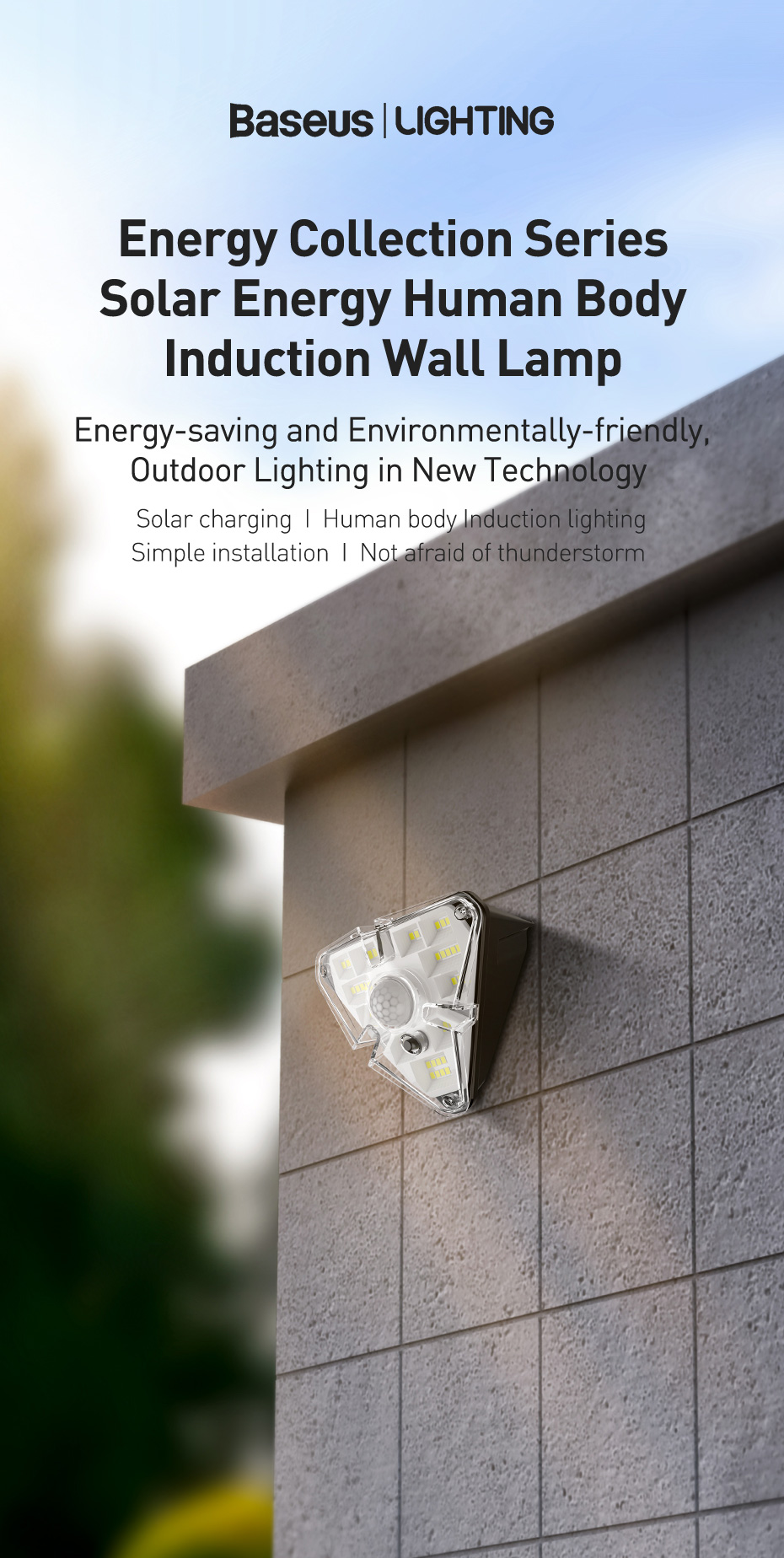Baseus Outdoor Waterproof LED Solar Light With Motion Sensor 6 Baseus Outdoor Waterproof LED Solar Light With Motion Sensor Love Me Some Gadgets