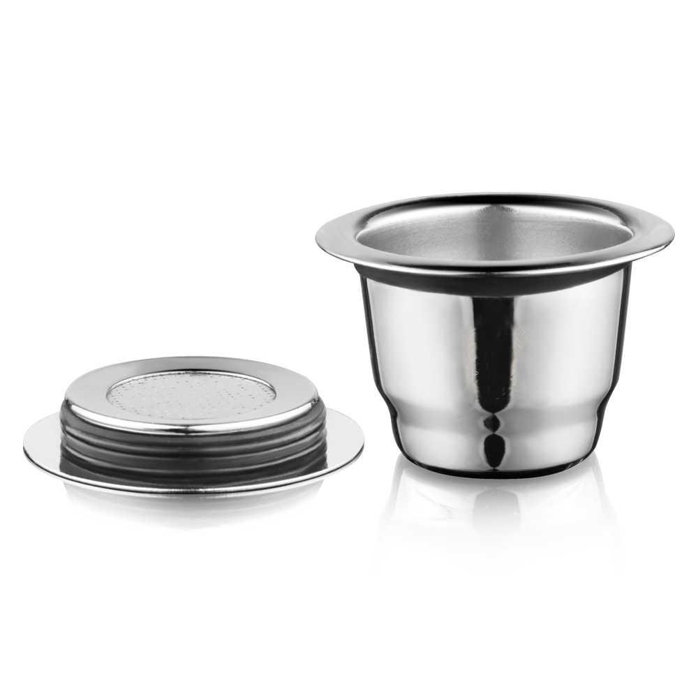 Plastry vip iCafilas do Nespresso wielokrotnego użytku wielokrotnego napełniania kapsułki Crema Espresso wielokrotnego użytku nowe wielokrotnego napełniania do Nespresso