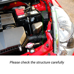 Image 4 - Auto Motorhaube Haube Gas Strut Lift Frühling Schock Halterung Unterstützung Stange Bars kit Für Honda Fit Jazz 2001 2002 2003 2004 2005 2006 2007
