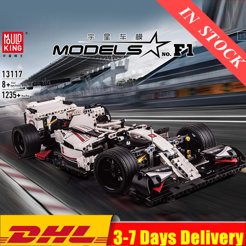 IN Stock MOULD KING MOC 13117 Technic City F1 Racing Car The 24 Hours Race Car Model Building Blocks Bricks 42096 Toy