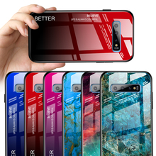 Marble Tempered Glass Cover for Samsung S10