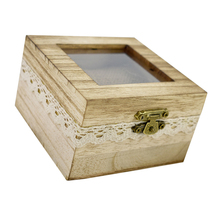 Romantic Wedding Supplies Rustic Wood Ring Box Holder  Bearer Jewelry Case