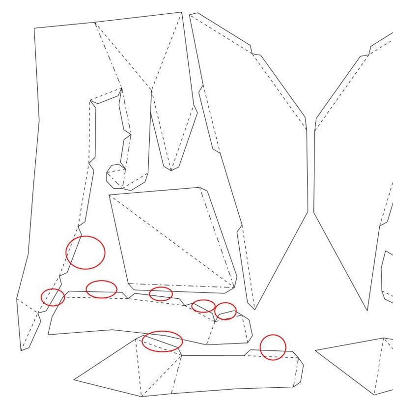 Gato de origami decorativo plano_2