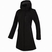 Женская Длинная ветровка осень зима уличная Флисовая теплая куртка с капюшоном ветрозащитная Водонепроницаемая походная верхняя одежда