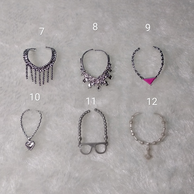 Fashion Original For Barbie Sunglasses 1/6 bjd Doll Accessories belt necklace Princess dressing up dollhouse GiftToys for Girls 3
