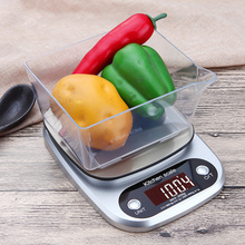 Stainless Steel Mini Scale 10kg/1g Cooking Tool with Tray Digital LCD Portable Bar Jewelry Electronic
