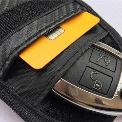 2 X Car Key Keyless Fob RFID blokowanie sygnału z zabezpieczeniem przeciw kradzieży osłona torby Faraday w Etui na kluczyki samochodowe od Samochody i motocykle na