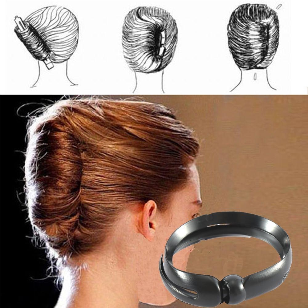 2pcs/set Women DIY Hair Styling Updo Donut Bun Clip Tool Formal French Twist Maker Holder Hair Sticks Accessories