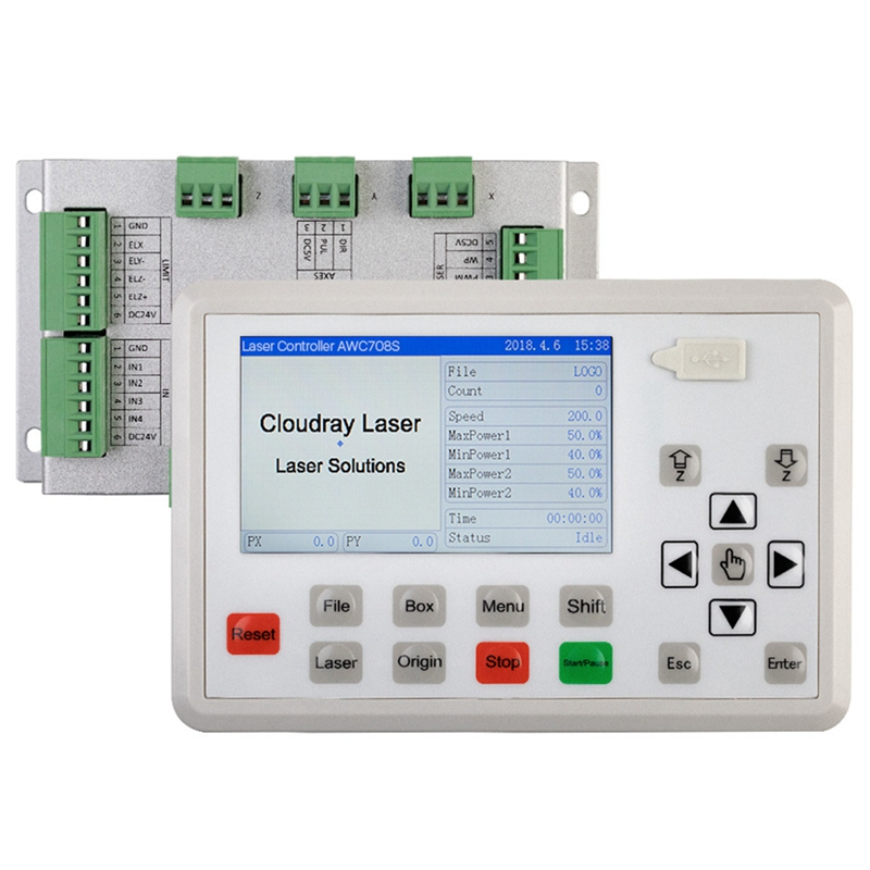 Trocen AWC708S Co2 Controller System For Engraving And Cutting Machine Replace AWC708C Lite Ruida Leetro
