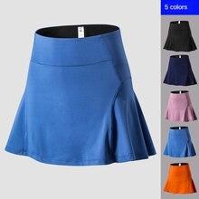 Женская юбка брюки с высокой талией для йоги фитнеса тенниса