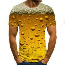2021 popular impresión 3D carta de cerveza espiral tiempo túnel unisex camiseta de manga corta ropa para hombres y mujeres noved