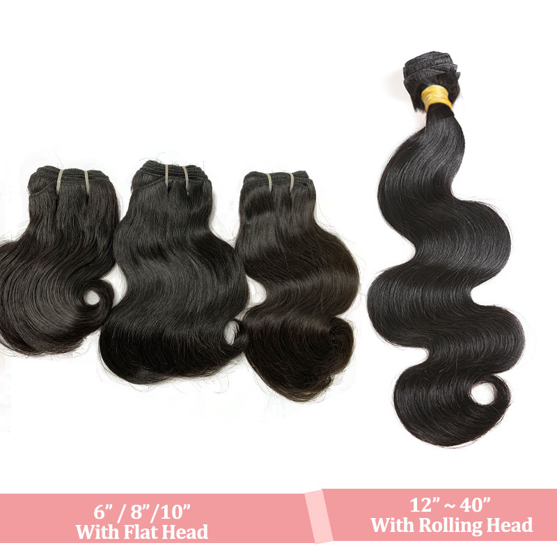 Ali Queen Hair Brazilian Raw Virgin Human Hair Body Wave Weaves Bundles Natural Black Color 100% Human Hair Weaving 6\