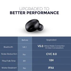 Image 5 - Беспроводные невидимые наушники вкладыши Mpow EM16 Bluetooth наушник на одно ухо 5,0, Bluetooth наушники с микрофоном, портативные деловые наушники