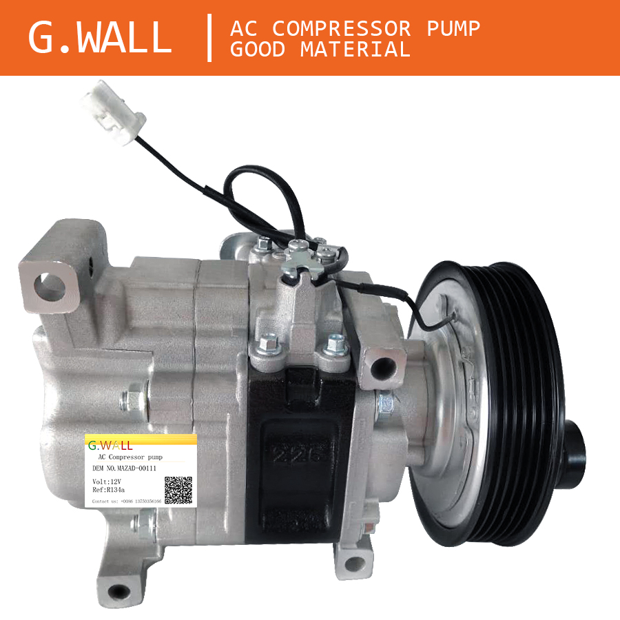 Auto AC Compressor For Mazda 3 M3 1.6 L 2003 2004 2005 2006 2007 2008 2009 H12A1AG4DY BP4K61K00 H12A1AG4DY