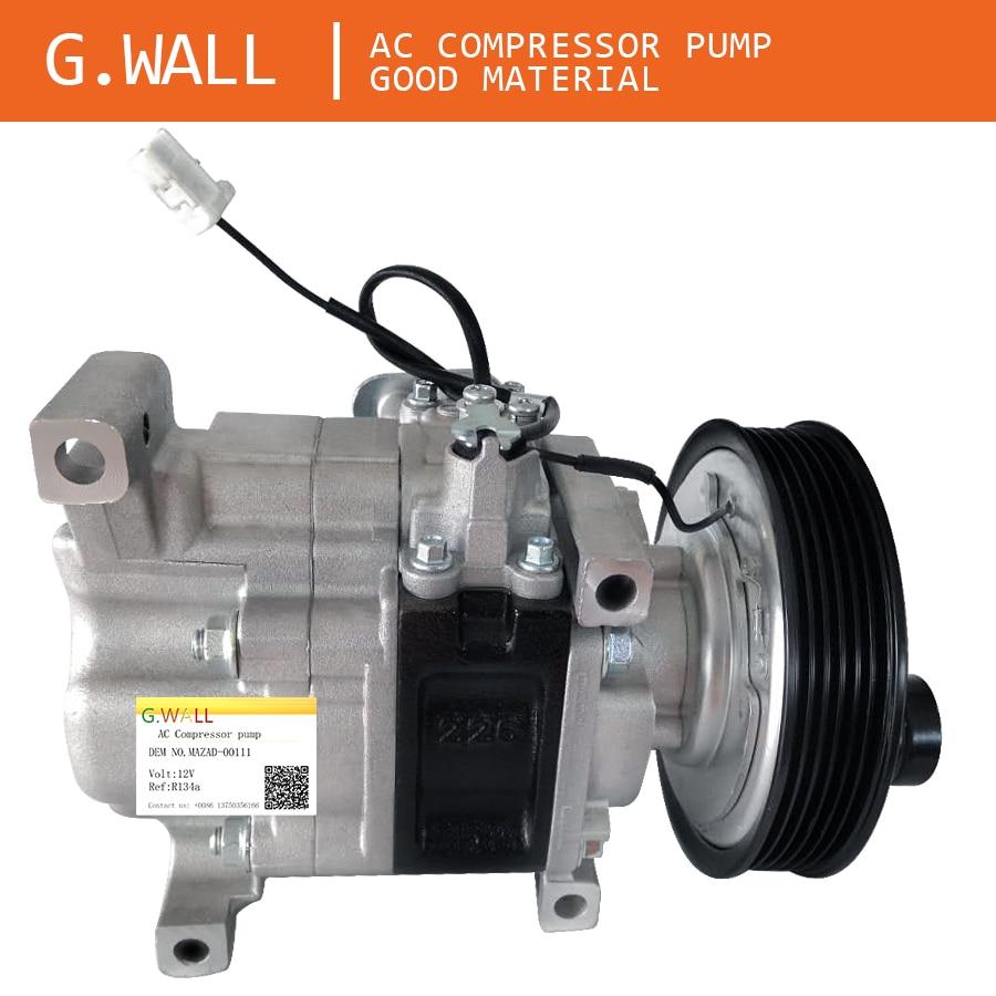 Auto AC Kompressor Für Mazda 3 M3 1.6 L 2003 2004 2005 2006 2007 2008 2009 H12A1AG4DY BP4K61K00 H12A1AG4DY