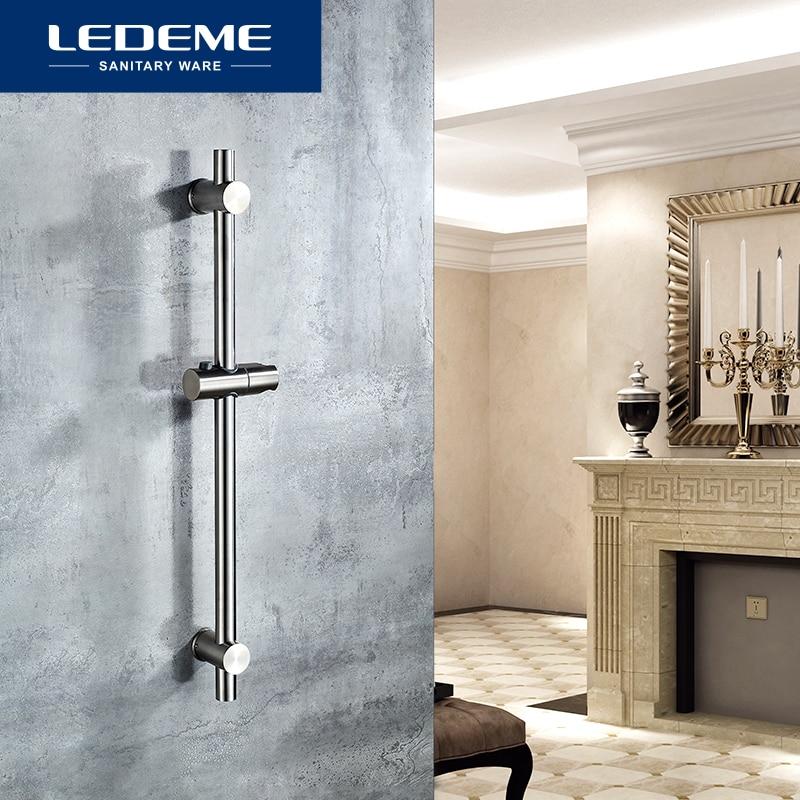 Head-Holder Lifter-Pipe Shower-Rod LEDEME Stainless-Steel Adjustable L78001-3