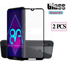 2 Tempered Glass For Huawei honor 8a 8 a Screen Protector for honor8a a8 phone Full Cover Safety 8a honor protective Glass Film for huawei honor 8a pro honor 8a 2 5d 9h full cover tempered glass screen protector protective glass for huawei honor 8a pro