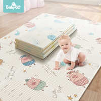 BabyGo Baby Foldable Play Mat XPE Tasteless Double Sides Crawl Mat Thickened Active Play Blanket Baby Room Crawling Pad150*195CM