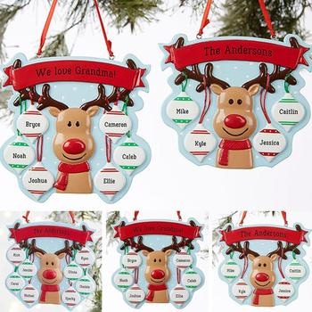 New year Christmas Ornaments Family Decoration With Personalized Party Claus Pendants Pets Santa Hanging Gift Dog For 2020 D4F8 image