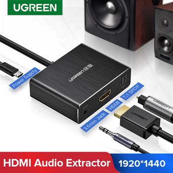 Ugreen ekstraktor dźwięku HDMI SPDIF optyczny Toslink Audio ekstraktor-konwerter HDMI rozdzielacz Audio 3 5mm Adapter gniazda Jack przełącznik HDMI tanie i dobre opinie Micro Usb Interfejs optyczny Męski-żeński 40281 HDMI Cables Pakiet 1 Carton Box Braid HDMI1 4 Projector Computer Amplifier