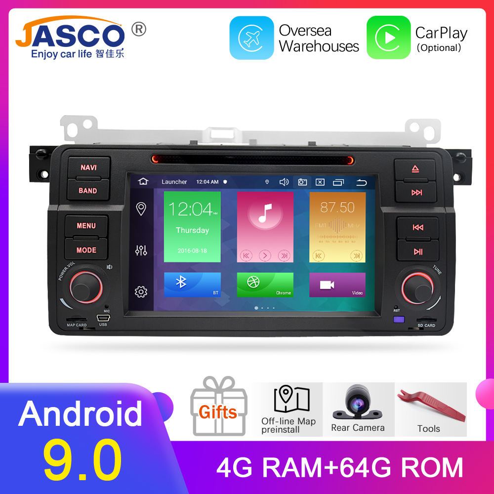 4G RAM Android 9.0 Car DVD Stereo Multimedia Headunit For BMW/E46/M3/Rover/3 Series Auto Radio GPS Navigation Video Audio