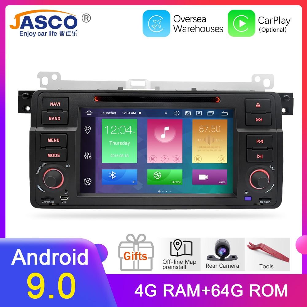 4g ram android 9.0 carro dvd estéreo multimídia unidade principal para bmw/e46/m3/rover/3 séries auto rádio gps navegação vídeo áudio