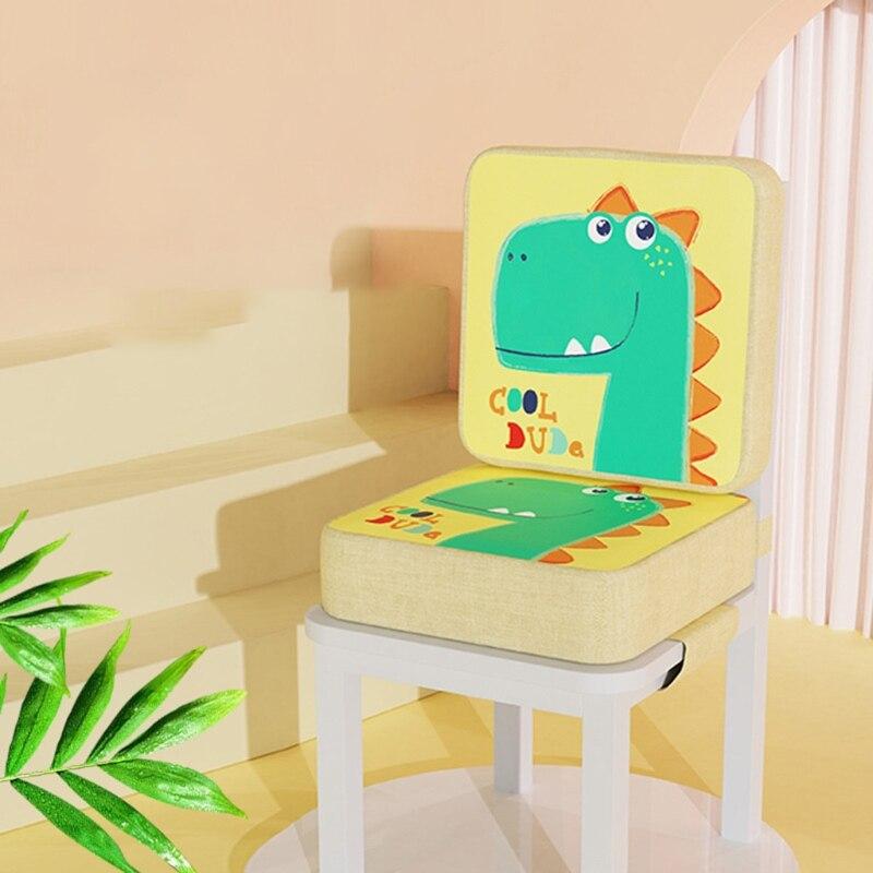 39x39x10cm Toddler Cartoon Animal High Chair Seat Booster Increasing Cushion Pad Q9QB
