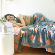 Muslin Cotton Blanket Bed Sofa Travel Breathable Large Soft Throw Blanket Summer Blanket For Bed 150cmx200cm 200cmx230cm