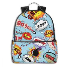 NOISYDESIGNS Children School Bags Kids Backpack Magic Pop Arts Printing School Bag Teenagers Shoulder Book Bag Mochila Escolar japanese anime masked rider kamen rider gaim printing canvas military backpack mochila escolar children teenagers school bags