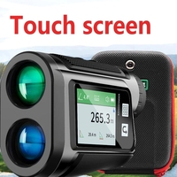 Telémetro de Golf con pantalla táctil, telescopio recargable por usb, pantalla LCD, medidor de distancia y velocidad con voz en Inglés