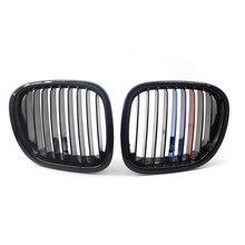 Sol sağ araç ön ızgarası ızgara parlak siyah M renk BMW Z3 96 02 ızgaraları Z serisi 2 kapı 51138412949 51138412950