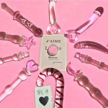 Kulki analne różowe serce Butt Plug szklane Dildo stymulacja pochwy i analna korek analny zabawki erotyczne dla kobiet