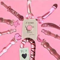 Anal Perlen Rosa Herz Butt Plug Glas Dildo Vaginal und Anal Stimulation Anal Plug Sex Spielzeug für Frauen