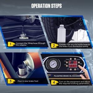 Image 5 - AUTOOL AST618 12V Vehicles Pulsating Brake Oil Exchanger Pulse Oil Change Recover Car Brake Fluid Four Clutch Slave Cylinders