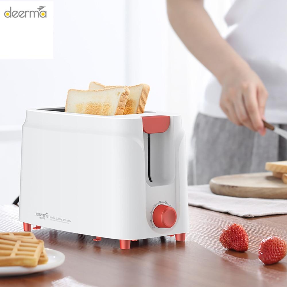 Deerma автоматическая электрическая машина для выпечки хлеба, тостер, сэндвич машина для завтрака, тостов, 9 передач, регулируемая Бытовая домашняя